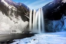 雪域高山瀑布图片大全