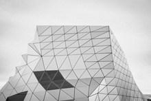 灰色调几何建筑摄影图片大全