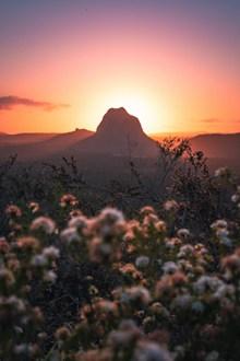 夕阳西下黄昏美景精美图片