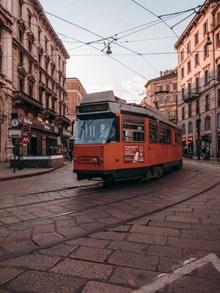 欧洲城市电车图片素材