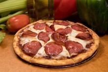 美味香肠披萨图片