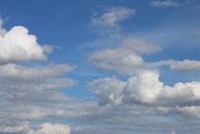 万里晴空白云精美图片