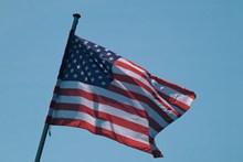 美国飘扬旗帜图片素材
