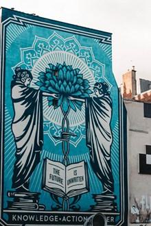 街道上的艺术涂鸦墙图片下载