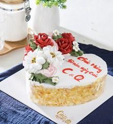 玫瑰心形蛋糕高清图