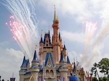 迪士尼城堡建筑图片素材