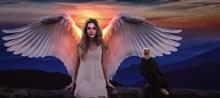 欧美风天使美女高清图片