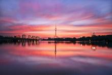 美丽黄昏城市图片素材