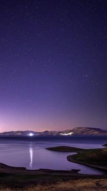 唯美山河紫色星空图片大全