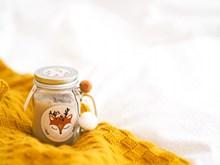 黄色羊毛织品精美图片