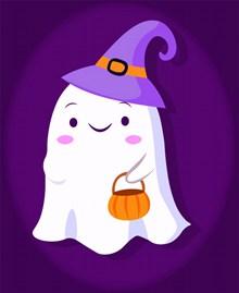 万圣节幽灵可爱卡通图片大全