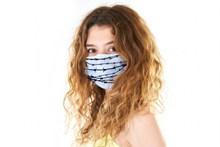 戴口罩预防肺炎美女图片