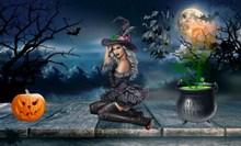 万圣节女巫海报图片
