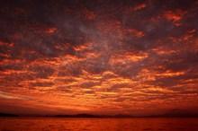 日落天空晚霞风景图片