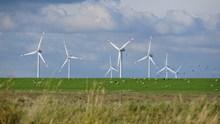 平原电力风车风景图片大全
