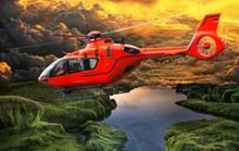 红色直升飞机图片素材