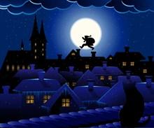 圣诞老人夜晚图片大全