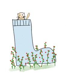 卡通手绘猫咪插画图片
