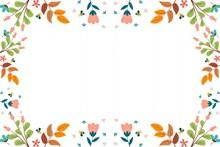 秋天元素边框背景高清图片