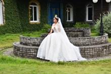 白色蓬蓬裙婚纱摄影精美图片