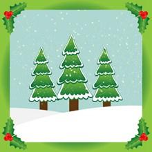 圣诞树卡片设计图片大全