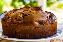 自制焦糖蛋糕图片素材