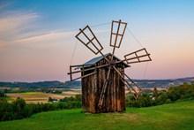 木头建筑风车图片大全