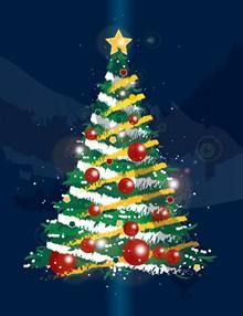 圣诞树海报设计图片