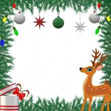 圣诞节冷杉边框背景高清图片