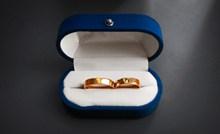 结婚黄金对戒高清图