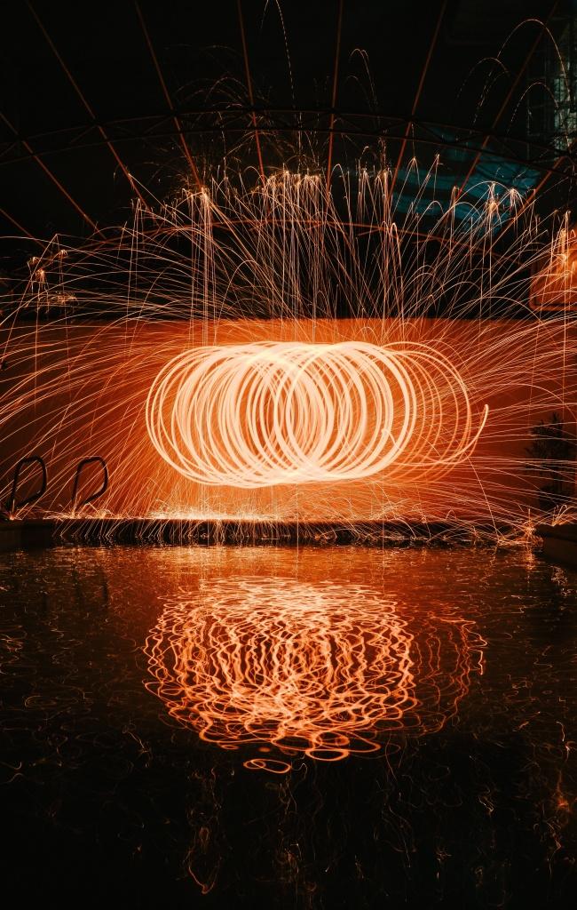 悬浮光圈飞舞图片