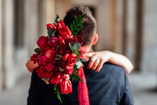 新娘捧花与新郎图片下载