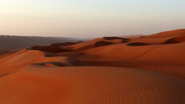 荒芜沙漠沙丘景观高清图
