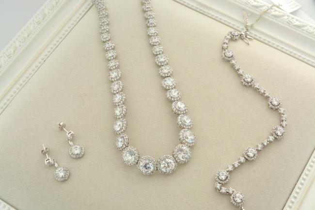 钻石珠宝项链图片