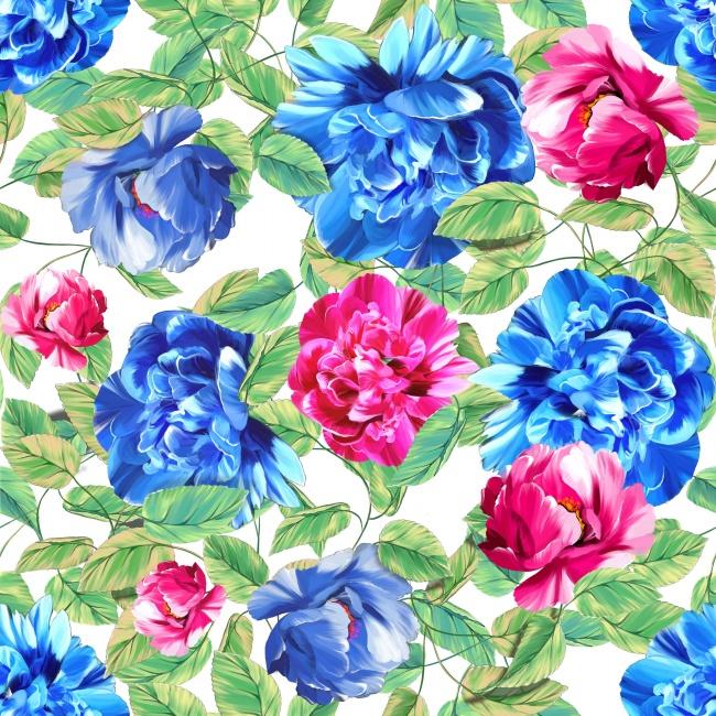 彩绘鲜花背景图片素材