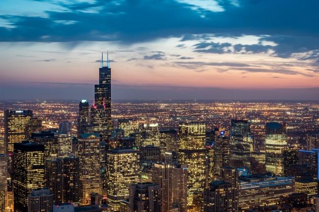 璀璨城市灯光景观图片素材