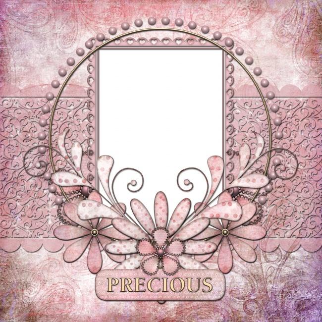 粉色相框背景图片下载