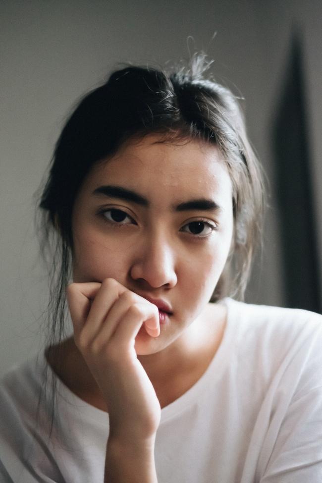 亚洲素颜美女头像精美图片