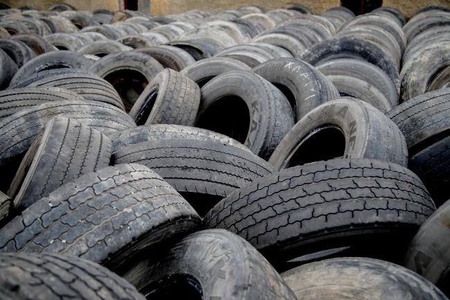 废弃轮胎精美图片