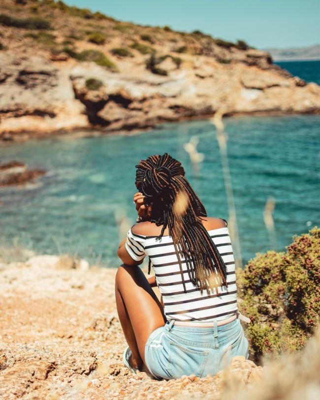 海邊風景美女背影 海邊風景美女背影大全圖片素材