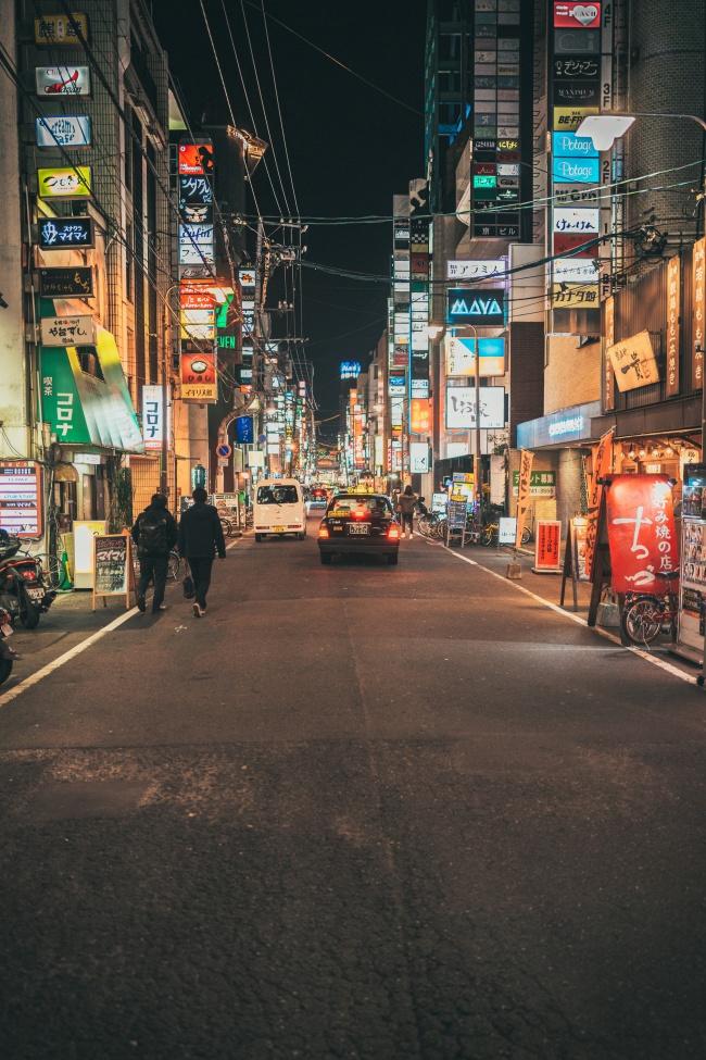 日本街道灯光夜景精美图片