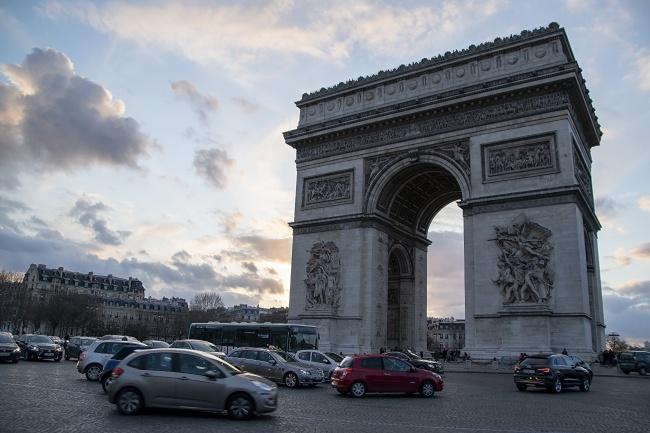 法国巴黎凯旋门广场图片大全