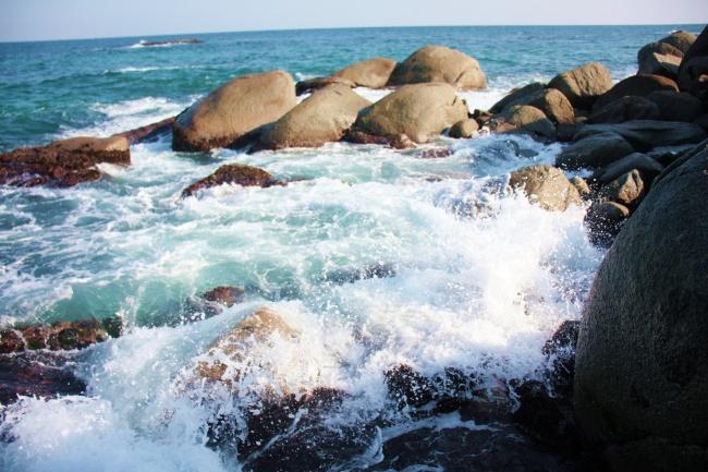 澎湃大海海水风景图片