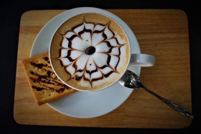 漂亮拿铁拉花咖啡图片大全