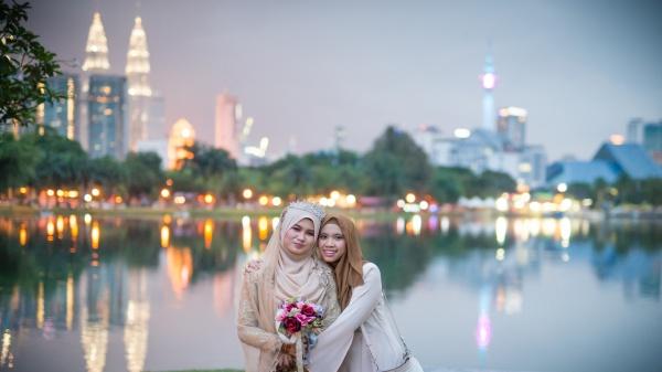 亚洲美女户外摄影图片下载