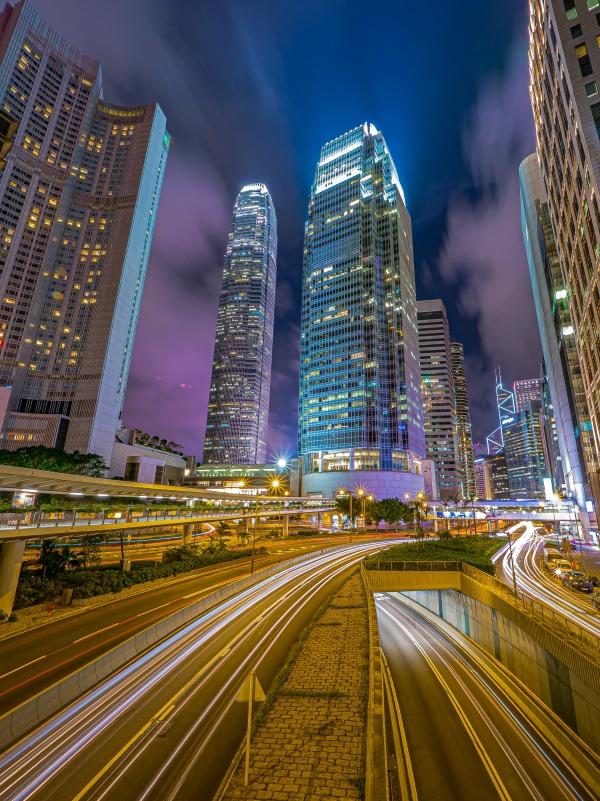 繁华都市立交桥夜景图片下载