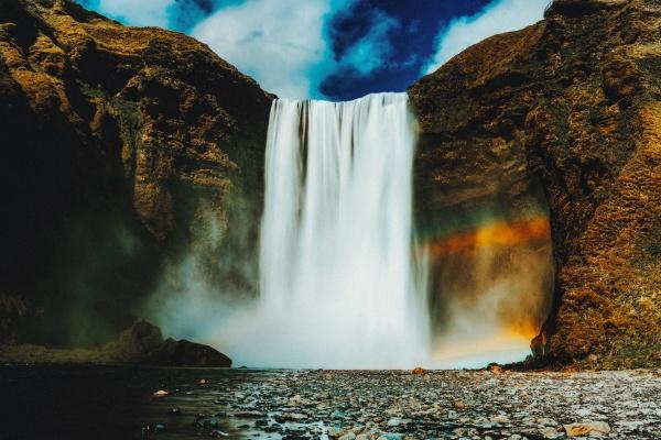 飞流瀑布图片