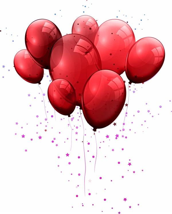 情人节红色气球免抠图片下载