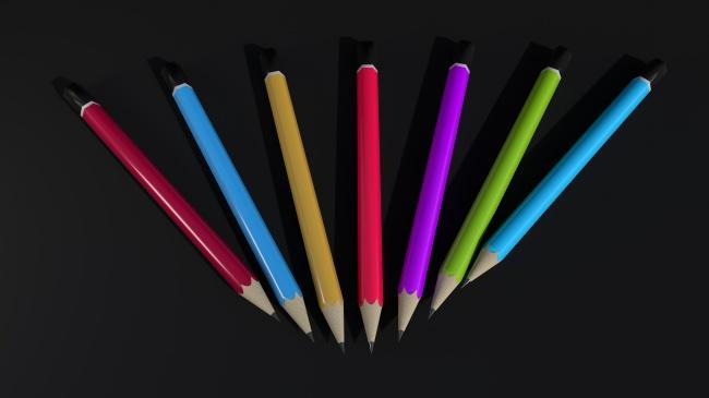 多彩铅笔排放图片下载