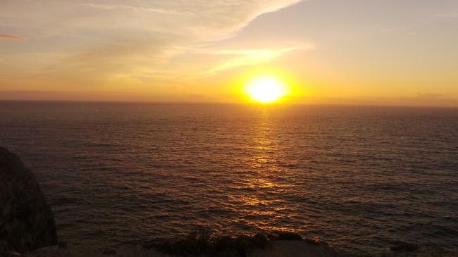 海平面夕阳西下图片大全